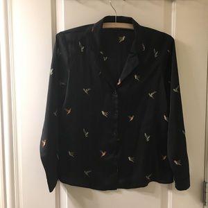 Topshop Hummingbird Printed Shirt